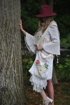 Handmade French Market Bag  Vintage linens by designedbyginalouise