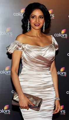 Indian Bollywood film actress Sridevi poses during the Colors 'IAA leadership Awards' ceremony in Mumbai on February 2, 2013.