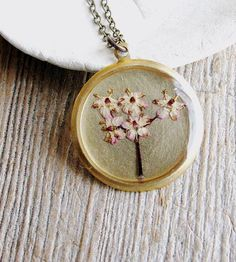 Pressed Elderberry Flower Necklace by KateeMarie on Scoutmob Shoppe