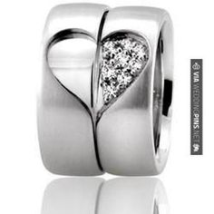 So cool! - wedding bands | CHECK OUT MORE NON TRADITIONAL WEDDING VOW PICS AT WEDDINGPINS.NET | #weddings #weddingvows #vows #tradition #nontraditional #events #forweddings #iloveweddings #romance #beauty #planners #fashion #weddingphotos #weddingpictures
