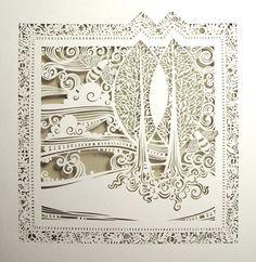 beautiful and intricate cut paper art by Sara Burgess