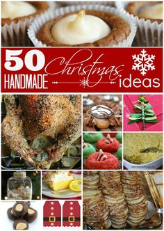50 Homemade Christmas Ideas.  Your one stop place for Free Printables, Candy, Cookies, Main Dishes, Side Dishes, Advent Calendars, Gift Tags, Gingerbread, Desserts and Cookies!