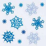 For extra cold then try our icy blue snowflake window clings!