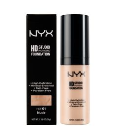 Hd Studio Photogenic Foundation by NYX. Most advanced foundation uses light-diffusing ingredients that create the appearance of smooth flawless skin, even under most high-definition technology. Hd studio photogenic foundation also can help reduce wrinkles and rejuvenate skin. http://www.zocko.com/z/JFBsV