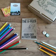 Pizza Eaters Proudly Present.. The X-Files Rainy Day Activity Book A loving tribute to both the ground breaking 90s TV show and the activity books