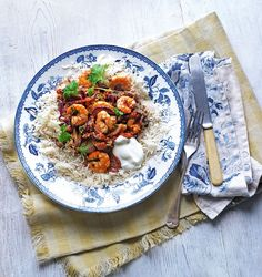 You can make this quick prawn curry recipe with ingredients mostly found in the storecupboard.