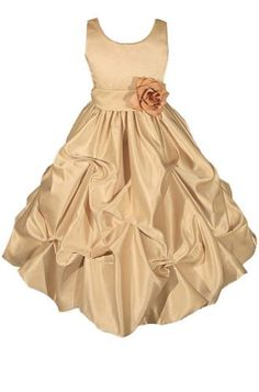 AMJ Dresses Inc Heavenly Gold Flower Girl Wedding « Dress Adds Everyday