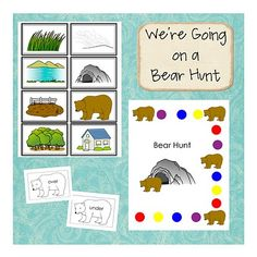 free printable bear hunt activities!...We're going on a bear hunt! I can't tell you all the times we did this with Trey!! =)