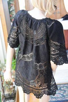 ✿ Vestido Customizada Com Crochê  ✿  /   ✿ Customized Dress With Crochet ✿