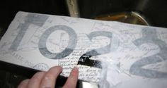 how to decoupage transfer...using laser jet not inkjet printer