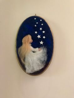 Needle felted Angel Waldorf inspired Wool Picture Baby