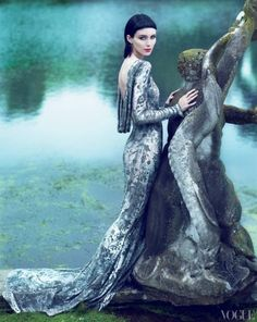 Rooney Mara-Love the lines and color of this-just pretty.