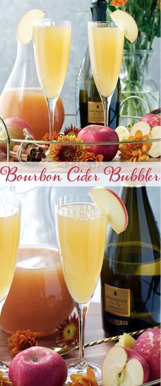 The perfect Thanksgiving cocktail! Apple cider brings the fall flavor and is paired with a splash of bourbon, cinnamon simple syrup, and prosecco.  Your guests will love these fall flavors.