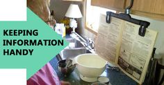 Need a secure way to hold recipes . . . or instructions?  Here's a simple and virtually free way to do it -- almost anywhere! via @TheBoatGalley