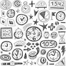 Resultat d'imatges de clock doodle