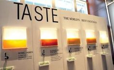 In July at Travel & Leisure's annual World's Best Awards in New York, sponsor Patrón displayed a sleek wall that housed five tanks of Patrón-based cocktails from which guests could pour their own drinks.