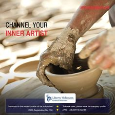 Try your hand at pottery and give your artistic instincts an outflow. #FreedomOfLife