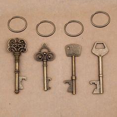 Yage Vintage Key Opener,1pcs Alloy Metal key bottle opener Charm Pendant for Key chain
