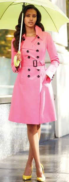 long pink trench coat | My Style | Pinterest | Pink trench coat ...
