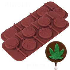 Marijuana Leaf Lollipop Silicone Candy Mold Tray, 2 Pack for sale online Hard Candy Molds, Candy Molds Silicone, Chocolate Snacks, Chocolate Molds, Hot Chocolate, Biscotti, Pots, Candy Making Supplies, Soaps