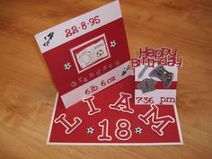 Football inspired 18th birthday card