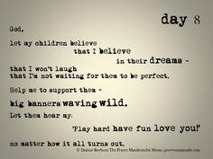 day 8 of The Prayer Manifesto for Moms