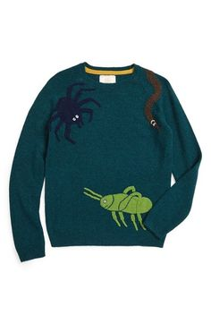 Mini Boden x Roald Dahl Creepy Crawly Friends Sweater (Toddler Boys, Little Boys & Big Boys) available at #Nordstrom