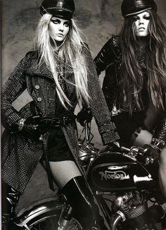 Fashion bikers | #motorcyclegirls | #bikes-n-girls | @housemanc