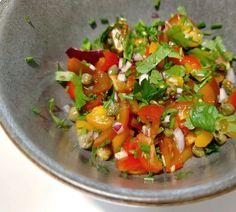Røget ørred med tomat/kapers salsa – Dalsgaard i Skivholme Mexican, Ethnic Recipes, Mexicans