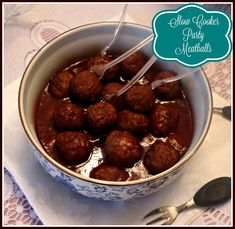 Sweet Tea and Cornbread: Slow Cooker Party Meatballs!