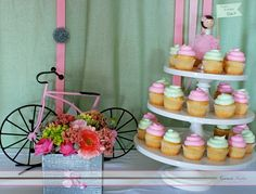 Retro Pink Bicycle Decor:  This blog has lots of cute ideas for bike parties!
