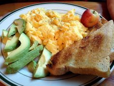 Scrambled eggs with avocado and sourdough toast at Cafe DeLuxe in Reno.