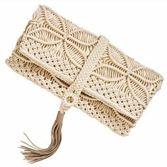 Macrame Clutch I've made a couple of these.  You want one?  I'll make it to your design.