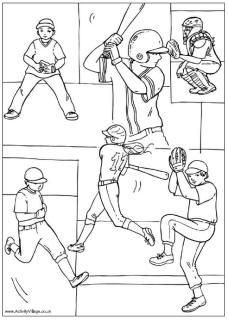 Baseball Colouring Pages