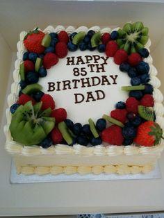 Dad's Cake made by Yogini Birthday Cake For Mom, Ball Birthday Parties, Beautiful Cakes, Amazing Cakes, Strawberry Cake Decorations, Fruit Wedding Cake, Dad Cake, New Year's Cake, Decadent Cakes