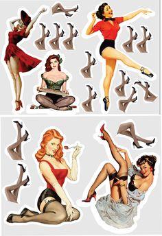 Pin Up Girl Tattoo, Pin Up Tattoos, Pin Up Vintage, Poses Pin Up, Pin Up Girls, Lingerie Pin Up, Festa Pin Up, Tatuagem Pin Up, Pin Up Party