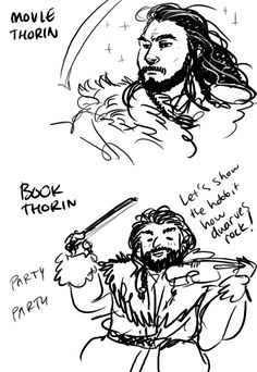 #majestic_thorin vs #party_dwarf_thorin///// He played the harp though. a little gold one.