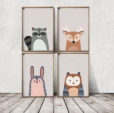 Nursery Wall Art Woodland Nursery Decor Nursery Prints by LaPoster