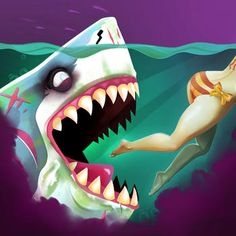 Hack Hungry Shark World 1.6.0 Mod. No download required, everything is based online! The best Hack, Mod available. Works for both iOS and Android system.