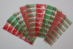Christmas Print Erin Condren Life Planner Washi tape strips stickers for weekly squares. ECLP. #erincondren