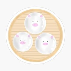 Steamed Buns, Cute Pigs, Stationary, My Arts, Stickers, Art Prints, Printed, Awesome, Products