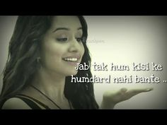 Settings - YouTube New Love Songs, Cute Love Songs, Shraddha Kapoor Half Girlfriend, Mood Off Quotes, Whatsapp Emotional Status, New Whatsapp Video Download, Ek Villain, Shraddha Kapoor Cute, Instagram Status