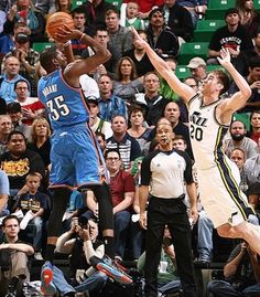 Kevin Durant leads Thunder to a win over resilient young Jazz team #ThunderUp