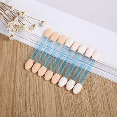 10pcs/set Makeup Double-end Eye Shadow Eyeliner Brush Sponge Applicator Tool for Women Lady Beauty Color in Random