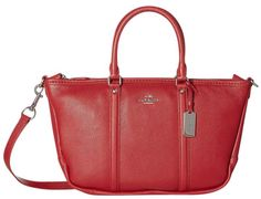 Coach 37154 Leather Small Central True Red Satchel. Save 52% on the Coach 37154 Leather Small Central True Red Satchel! This satchel is a top 10 member favorite on Tradesy. See how much you can save