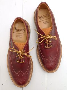 Tricker's For The Bureau 2-Tone Lolipop Cavalier Bourton Derby Brogue Shoe  www.facebook.com/...