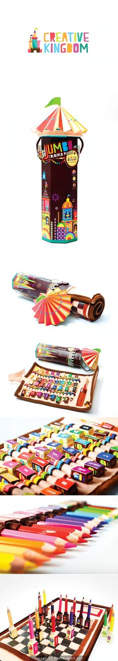 Everyone will want a set of these pencils #packaging curated by Packaging Diva PD created via http://www.packageinspiration.com/creative-kingdom-coloured-pencils.html/