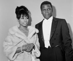 Diahann Carroll & Sidney Poitier - April 13, 1964   - ELLE.com