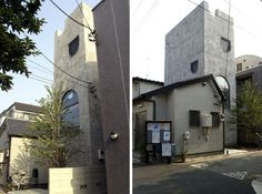 House Tower: Atelier Bow-Wow  Site: 42.29 sqm  Footprint: 18.44 sqm  Floor Area: 65.28 sqm