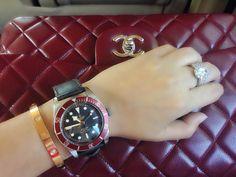 #chanel #tudor #blackbay #cartier #lovebangle #rosegold #diamante #ring #good luck
